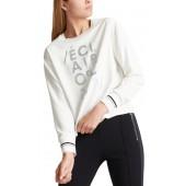Marccain Sports - MS 55 06 W21 Witte T-shirt tekst zilver