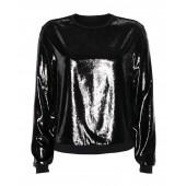 Marccain Sports - PS 55 14 W28 Bloes, sweater zwart blikkend