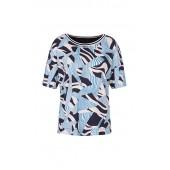 Marccain Sports - PS 48 25 J28 T-shirt print licht blauw donker blauw wit