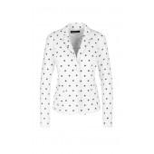 Marccain Sports - NS 34 08 J72 witte stretch blazer met zwarte tennisballen.