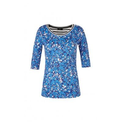 Marccain Sports - QS 4887 J14 - Shirt met blauwe print