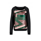 Marccain Sport -  KS 5509 W05 - Sweater met lurex-print