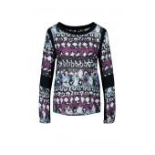 Marccain Sports - HS 5509 W04 732 blouseshirt fucia grijs