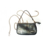 Noë - Nasim mini clutch - BAG-N008-BAR - blauw metallic