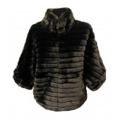 Passioni - 1026 Nep bond cape vest in zwart