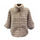 Passioni - 1026 Nep bond cape vest in warm grijs