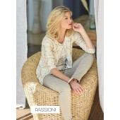 Passioni - twinset 9138 - wit goud snake