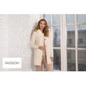 Passioni - 10146 warme zachte ecru gilet met pels.