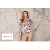 Passioni - 10175 Twinset print roze grijs zwart