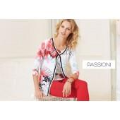Passioni - Twinset 7144 - Print wit zwart groen roze