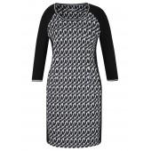 Rabe - 45-124460 Kleed kort stretch zwart wit