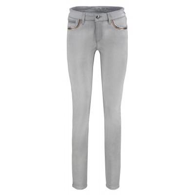 Raffaello Rossi - Jane Kette - Grijze jeans met detailles aan de zakken.