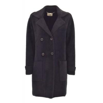 Relish - Cappotto Annou - Zachte zwarte mantel