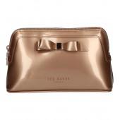 Ted Baker - Cahira Kleine rozé gouden toilettas met rozé strik