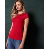 Ted Baker - Charre - T-shirt met strikjes rood