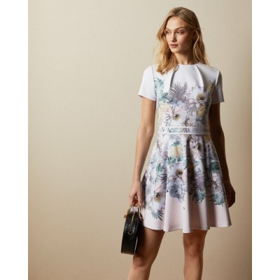 Ted Baker - Haylinn Kleed roze wit bloemenprint