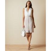 Ted Baker - Annise kleed aansluitend wit roze