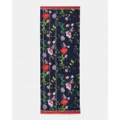 Ted Baker - zadiie sjaal Hedgerow donker blauw rode bloemen