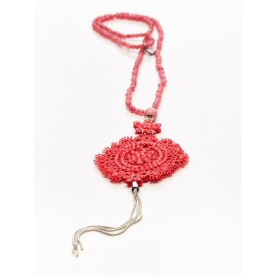 Titto Angelita - lange ketting in corail