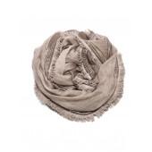 Titto - Elsa sjaal - bruin met franjes