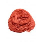 Titto - Elsa sjaal - warm oranje met franjes