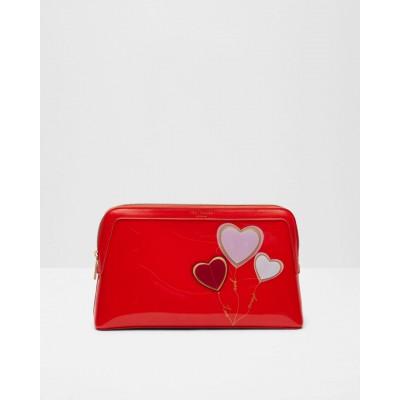 Ted Baker - Redford - Toilettas rood met hartjes - large