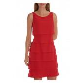 Vera Mont - 00634825 - Rood kleed met stroken