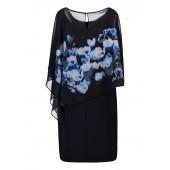 Vera Mont - 0097-4804-8900 - Blauw kleed met print