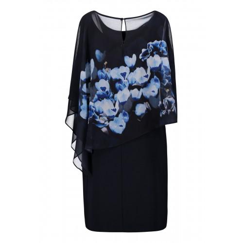 0abd4399b9cb1 Vera Mont - 0097-4804-8900 - Blauw kleed met print