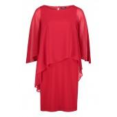 Vera Mont - 2141 3589 4146 rood kleed met voile en strass