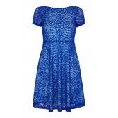 Yumi - kleed YD000270 - Blauwe kant met turquoise